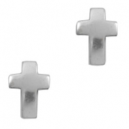 TQ metal charms cross Antique silver