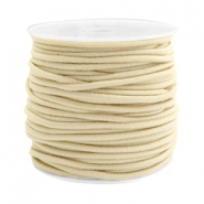 Coloured elastic cord 2.5mm Beige gold