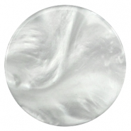 35mm flat cabochon Polaris Elements pearl shine Light cloudy grey