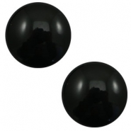 12mm classic cabochon Polaris Elements pearl shine Black