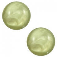 12mm classic cabochon Polaris Elements pearl shine Salvia green