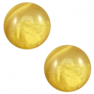 20mm classic cabochon Polaris Elements pearl shine Spicy mustard green
