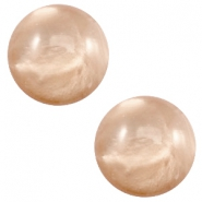 12mm classic cabochon Polaris Elements pearl shine Hazel brown