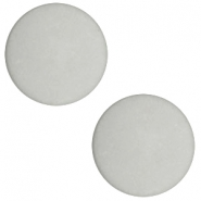 12mm flat cabochon Polaris Elements matt Light cloudy grey