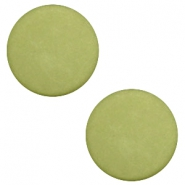 7mm flat cabochon Polaris Elements matt Salvia green