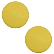 7mm flat cabochon Polaris Elements matt Spicy mustard green