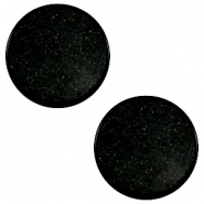12mm flat cabochon Super Polaris Black