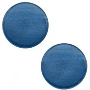 7mm flat cabochon Super Polaris Night blue