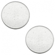 12mm flat cabochon Super Polaris Light cloudy grey