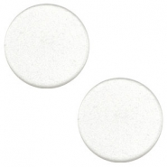 12mm flat cabochon Super Polaris White