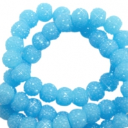 Sparkling beads 8mm Sky Blue