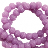 Sparkling beads 6mm Lavender Purple