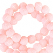 Sparkling beads 8mm Light Pink