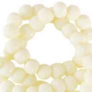 Sparkling beads 8mm Ivory Yellow