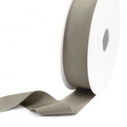 Elastic Ibiza Ribbon 25mm Metallic Taupe
