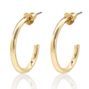 Trendy earrings hope large Gold