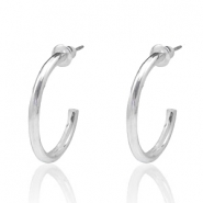 Trendy earrings hope medium Silver