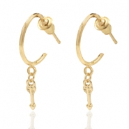 Trendy earrings open ring arrow Gold