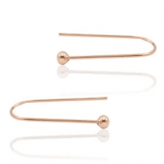 Trendy earrings earline ball Rose Gold