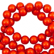 Miracle 3D beads 8mm Electric Orange