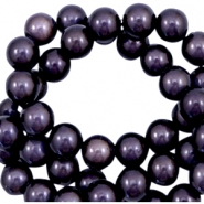 Miracle 3D beads 8mm Dark Lilac Purple