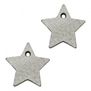 DQ leather charms star Graphite Grey