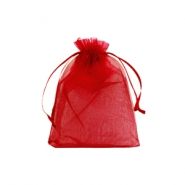 Jewellery Organza Bag 7x9cm Jester Red