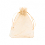Jewellery Organza Bag 9x12cm Warm Yellow