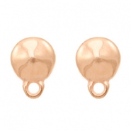 DQ metal findings earpin round with loop Rose Gold (nickel free)