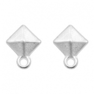 DQ metal findings earpin rhombus with loop Antique Silver (nickel free)