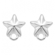 DQ metal findings earpin starfish with loop Antique Silver (nickel free)