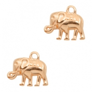 DQ metal charms elephant Rose Gold (nickel free)