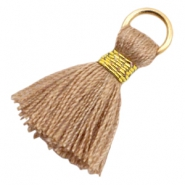 Tassels Ibiza style 1.8cm Gold-Camel Brown