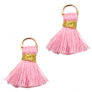 Tassels Ibiza style 1.5cm Gold-Pink