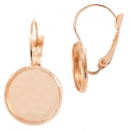 Earrings metal for cabochon 12mm Rose Gold