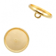 Settings button metal for cabochon 12mm Gold