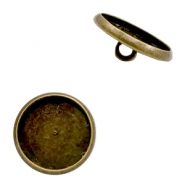 Settings button metal for cabochon 12mm Bronze