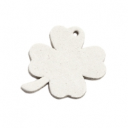 DQ leather charms clover medium Off White