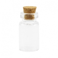 Wish bottle with cork 24x13mm Transparent