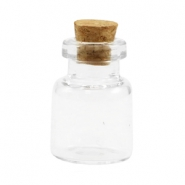 Wish bottle with cork 23x16mm Transparent