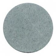 DQ leather cabochons 35mm Grey