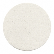 DQ leather cabochons 35mm Off White