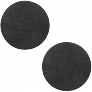 DQ leather cabochons 20mm Vintage Black