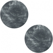 DQ leather cabochons 20mm Antracita Black