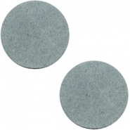 DQ leather cabochons 20mm Grey