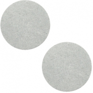 DQ leather cabochons 20mm Light Grey