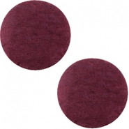 DQ leather cabochons 20mm Light Aubergine Red