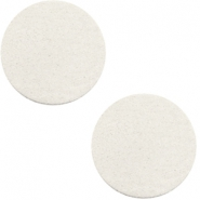 DQ leather cabochons 20mm Off White