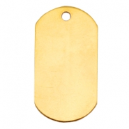 Designer Quality metal for ImpressArt Name Tag 20x37mm Gold (Nickel free)