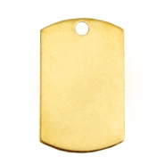 Designer Quality metal for ImpressArt Name Tag 15x25mm Gold (Nickel free)